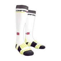 Calcetines compresión Full Sock Blancos Compressport