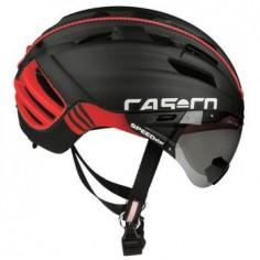 Casco Cas Co SPEEDster con visor negro/rojo