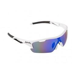 Gafas ciclismo Spiuk Jifter Blanco/negro Lentes de espejo azul