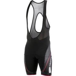 Culote Craft Performance Grand Tour Bibshorts Negro/Rojo