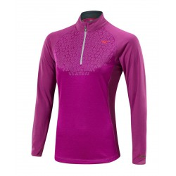 Camiseta de Running de Manga Larga Breath Thermo 1/2 Zip Morada para Mujer de Mizuno