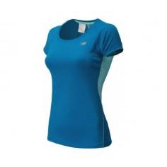 Camiseta Running New Balance Azul Mujer
