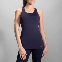 Camiseta Running Pick-Up Tank Navy Mujer
