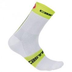 Calcetines FREE 9 blanco/amarillo Castelli
