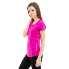 Camiseta Accelerate Short Sleeve PV16 New Balance Morado Mujer