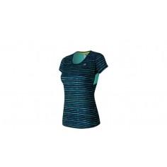 Camiseta New Balance Accelerate Short Sleeve Graphic OI16 Mujer Azul