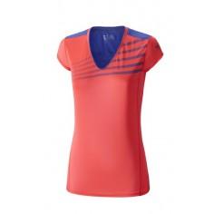 Camiseta Mizuno Premium Aero Tee mujer rosa/azul