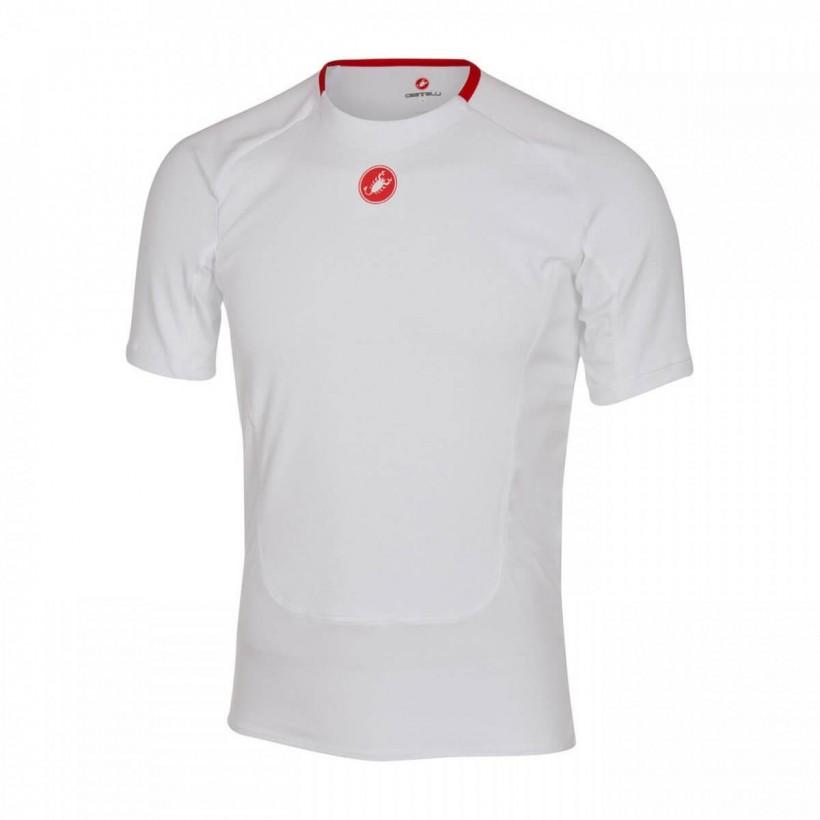 Camiseta Interior Manga Corta Castelli Prosecco Blanca