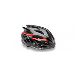 Casco Rudy Project Rush Black/Red Fluo Brillante