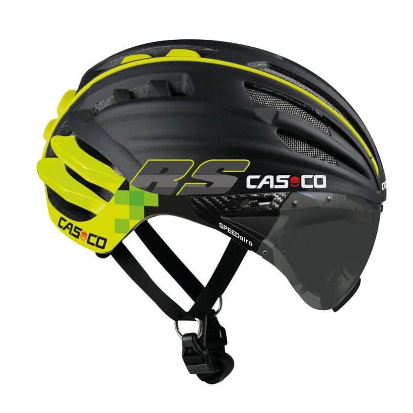 Cas Co Aero Speedairo RS Color Negro Neon con visor fotocromático