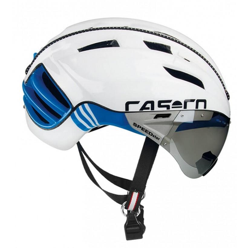 Casco Cas Co SPEEDster Plus Blanco Azul