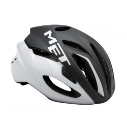 Casco Met Rivale color Negro/Blanco 2017