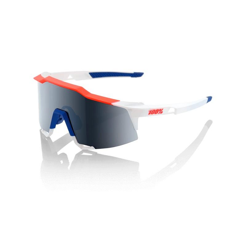 Gafas 100% Speedcraft Gamma Ray LL Lente Espejo Gris Oscuro( Dark Grey Mirror)