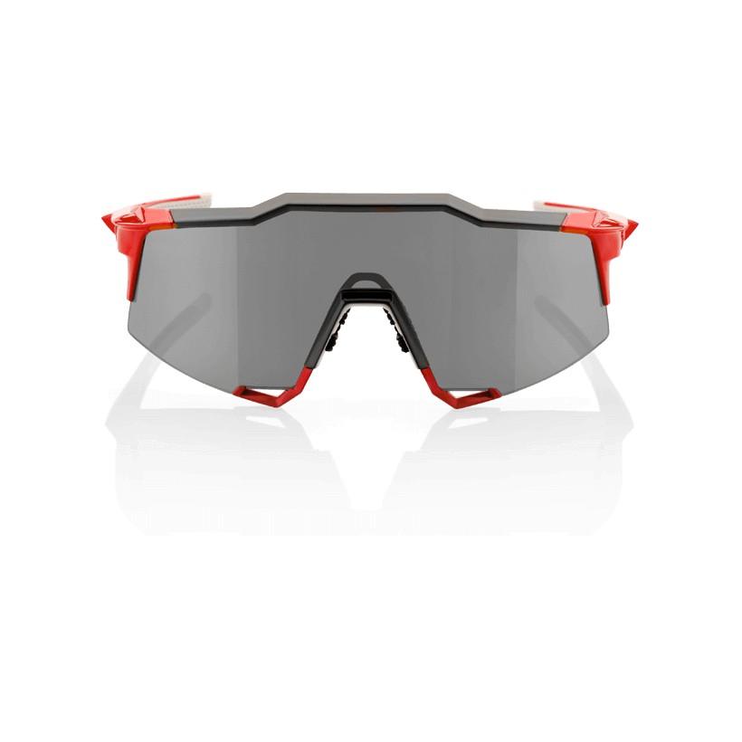 Gafas 100% Speedcraft LL Fire Red / Lente Espejo gris (Smoke Lens)