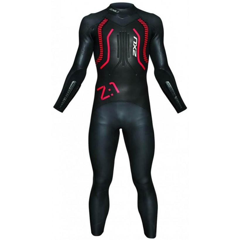 Neopreno 2XU Z:1 Wetsuit negro/rojo