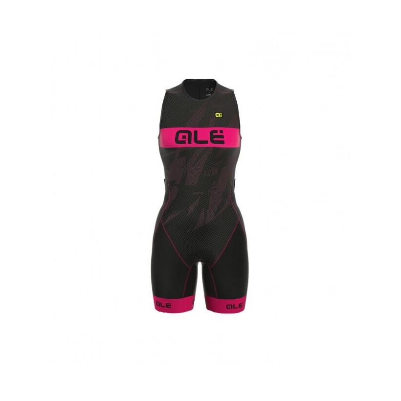 Body triatlón Alé Record gris/rosa mujer PV17