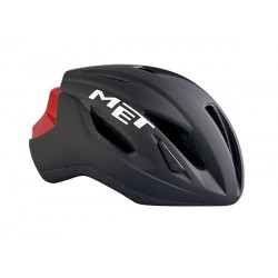 Casco Met Strale color Negro Rojo 2017
