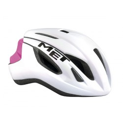 Casco Met Strale color Blanco Rosa