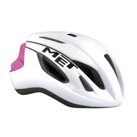 Casco Met Strale color Blanco Rosa 2017