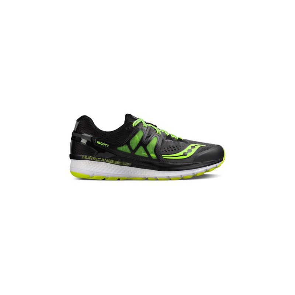 Running Shoes – Mens Saucony Hurricane Iso 3 BlackGreen Mens, Running Shoes, Shoes
