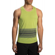 Camiseta Brooks sin mangas Distance Tank verde hombre