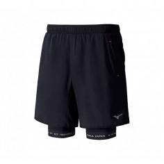 Pantalón corto Mizuno Mujin Square 7.5 2en1 negro