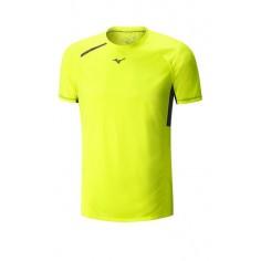 Camiseta Mizuno Premium Aero Tee color amarillo fluor