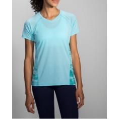 Camiseta Brooks Distance Sleeve mujer azul
