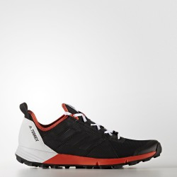 Zapatillas Adidas Trail Terrex Agravic Speed OI17 color negro/rojo/blanco
