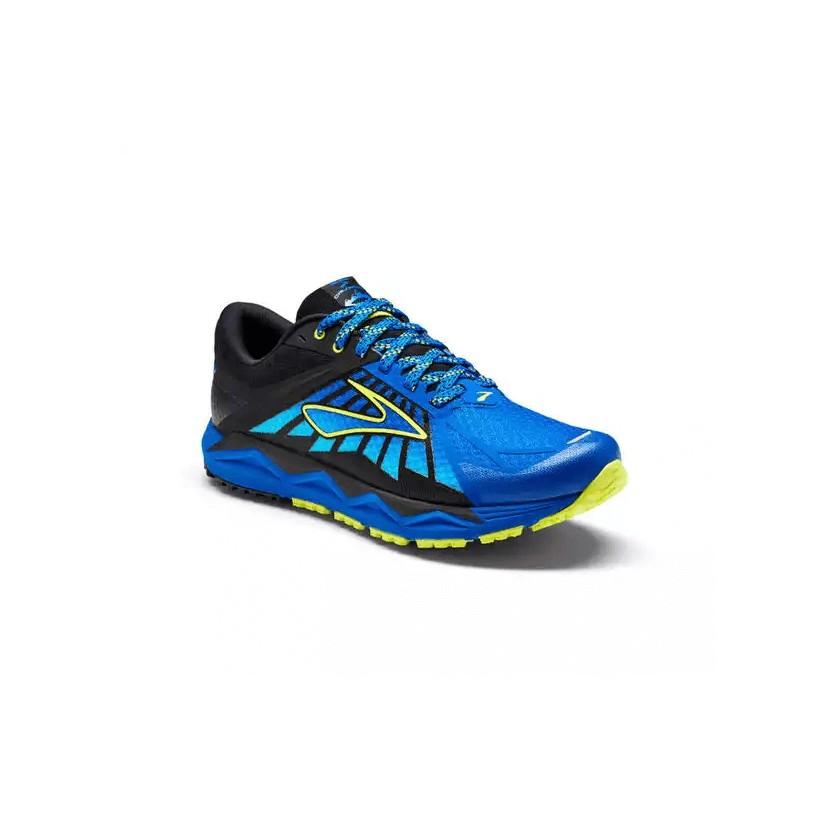 033df7a4672 Zapatilla Brooks Trail running Caldera azul y amarillo para Hombre