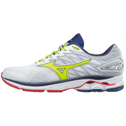 Zapatillas Mizuno Wave Rider 20 blanco/amarillo OI17