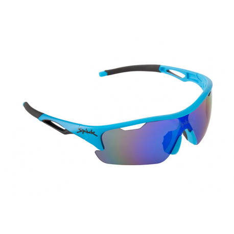 Gafas ciclismo Spiuk Jifter Azul/negro Lentes de espejo azul