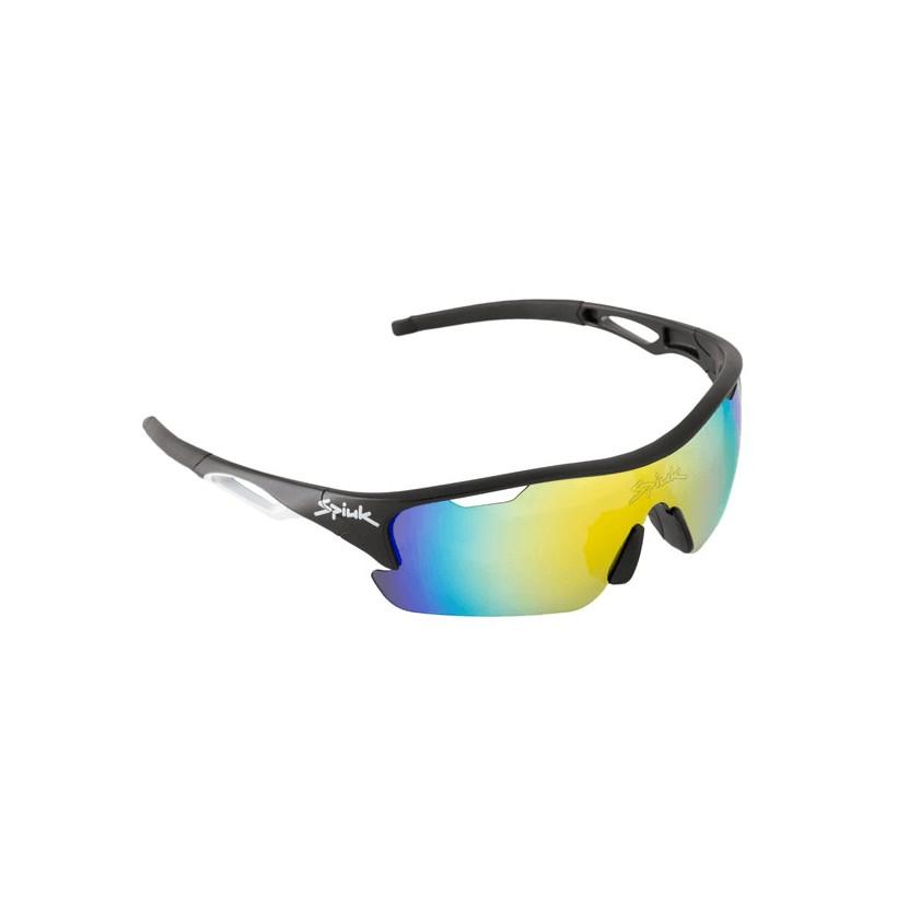 Gafas ciclismo Spiuk Jifter negro/blanco Lentes de espejo naranja