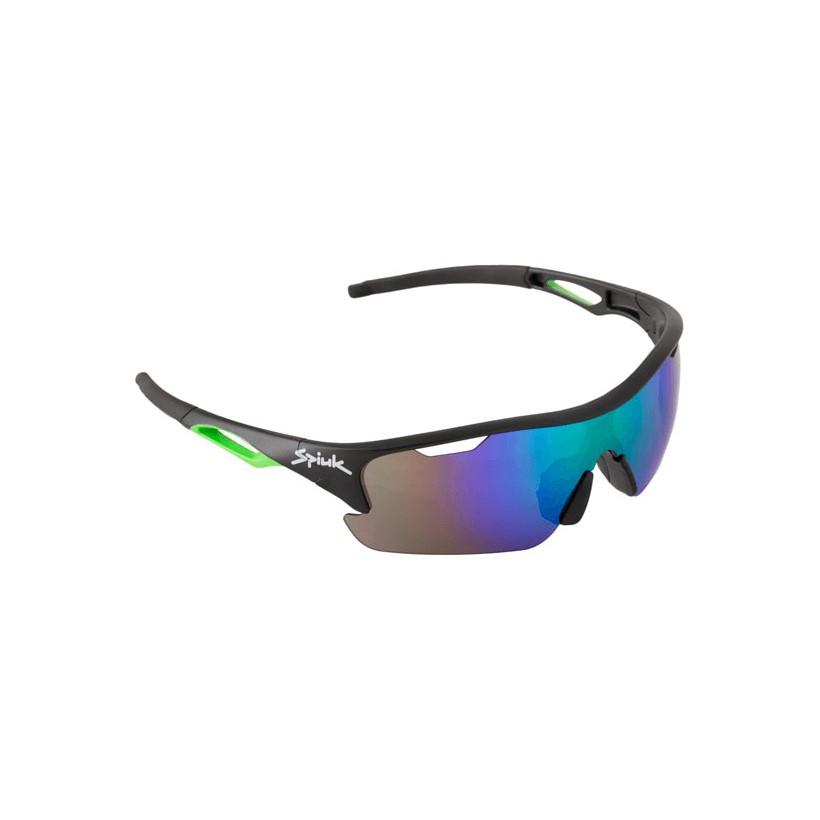 Gafas ciclismo Spiuk Jifter Amarillo/negro Lentes de espejo verde