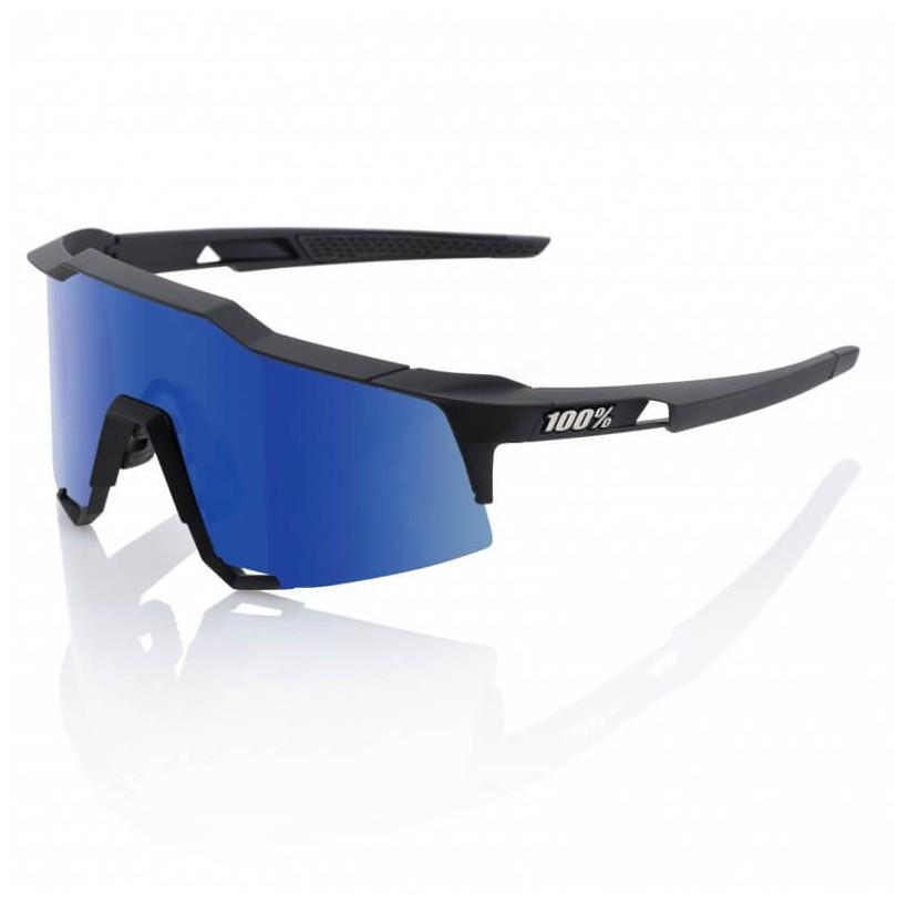 Gafas 100% Speedcraft Soft Tact Black LL (LENTE ICE MIRROR)
