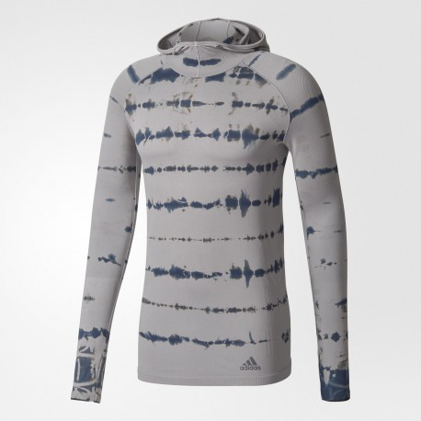 Camiseta manga larga Adidas Primeknit Gris y negro Hombre OI17