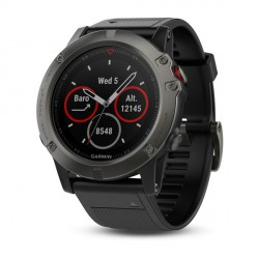 Reloj multideporte Garmin fenix 5X Zafiro gris con correa negra