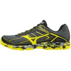 Mizuno Wave Hayate 3 Hombre - Trail Running OI17 Amarillo y negro