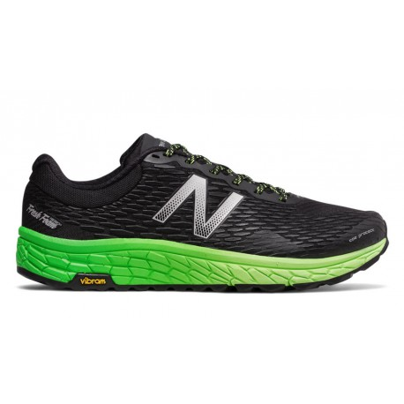 Zapatillas New Balance trail Hierro V2 OI17 negro y verde