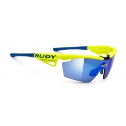 Gafas Genetyk Racing Pro Yellow Fluo RPO Multilaser Blue Rudy Project