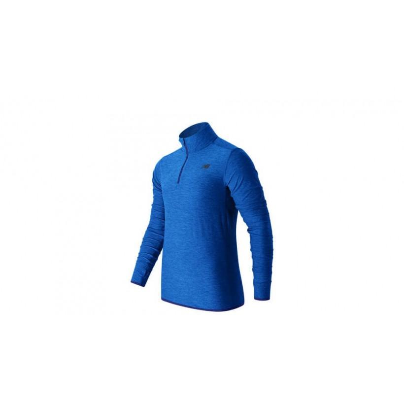 Camiseta New Balance N Transit Quarter Zip Azul Hombre OI17