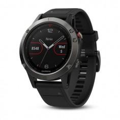 Reloj multideporte Garmin fenix 5X gris con correa negra