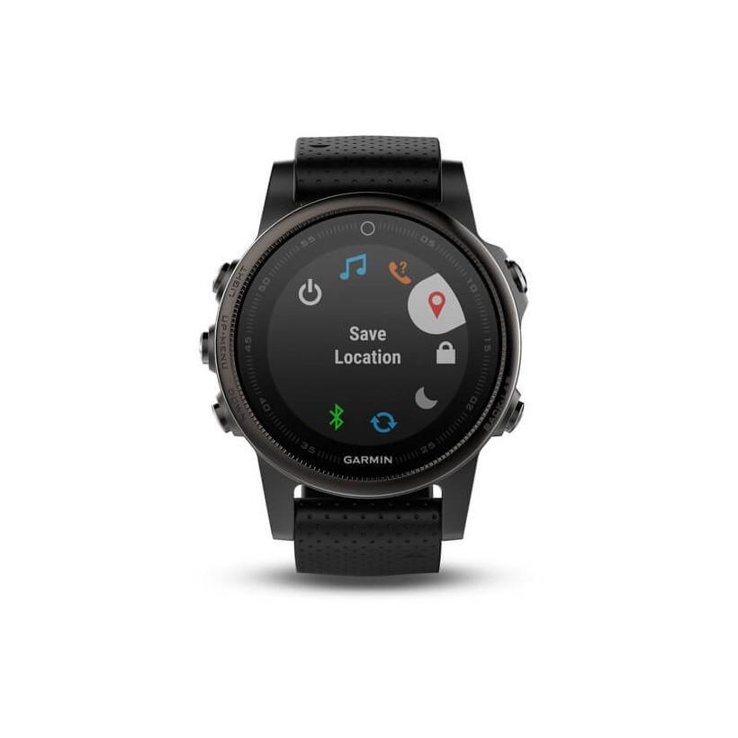Reloj multideporte Garmin fenix 5S Zafiro negro con correa negra