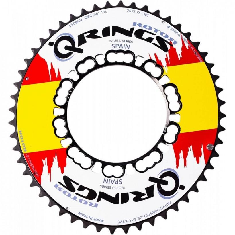 Plato Ovalado Rotor Q-Ring Aero Exterior Edición Bandera