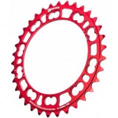 Plato Ovalado Rotor Q-Ring Interior Rojo