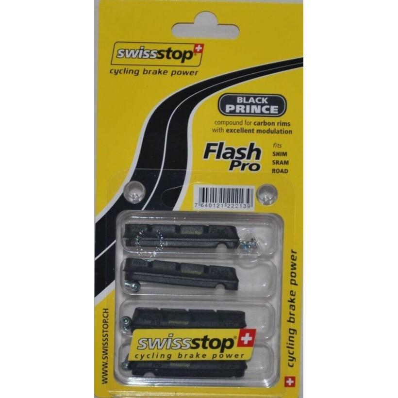 Zapatas SwissStop Flash Carbono - Black Prince de carretera