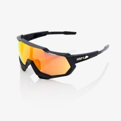 Gafas 100% Speedtrap soft tact negro/ lente espejo roja hd multilayer
