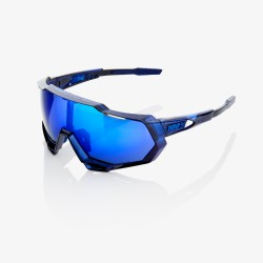 Gafas 100% Speedtrap Polished translúcido azul/ lente espejo azul eléctrico