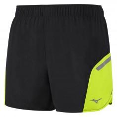 Pantalón Corto Mizuno Premium Aero Square 4.5 Negro/amarillo para hombre