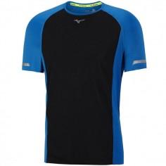 Camiseta Mizuno Aero Tee Negro/Azul para hombre